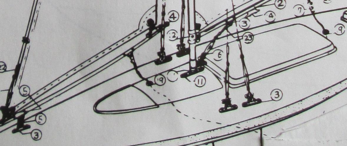 1m級のヨットの部品の使用例